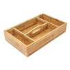 Castleton Home Bamboo Kitchen Silverware Tray