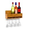 Castleton Home 4 Bottle Wall Mount Wine Rack