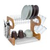 Castleton Home 2-Tier Bamboo/Stainless Steel Draining Rack