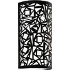 Castleton Home Abstract 2 Light Wall Fixture with a Laser Cut Shade in Black