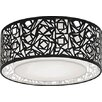Castleton Home Abstract 4 Light Large Semi-Flush Ceiling Fitting with a Laser Cut Shade in Black