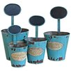 Castleton Home Le Jardin...' 4 Piece Novelty Pot Planter Set