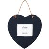 Castleton Home Slate Heart Hanging Picture Frame