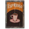Castleton Home Espresso Vintage Advertisement Plaque