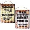 Castleton Home Gentlemen/Women 2 Piece Vintage Advertisement Plaque Set