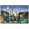 Castleton Home 'Il Riflesso Dei Cigni Genera L'Immagine Degli Elefanti, 1937' by Dalì Graphic Art