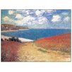 Castleton Home 'Meadow Road to Pourville' by Claude Monet Art Print
