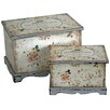 Castleton Home Chouette Fleur 2 Piece Jewellery Box Set