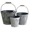 Castleton Home 3 Piece Bird on Branch Pails Set