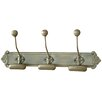 Castleton Home Triple Wall Hooks on Fancy Plaque