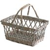 Castleton Home Folding Handles Wicker Basket