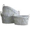 Castleton Home Heart 3 Piece Laundry Wicker Baskets Set
