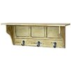 Castleton Home Distressed Shelf with Hooks