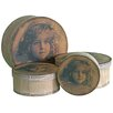 Castleton Home 4 Piece Antique Hat Box Set