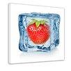 "Castleton Home Leinwandbild ""Eiswürfel Erdbeere"", Grafikdruck"