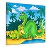 """Castleton Home Leinwandbild """"Dino Kinderbild Mutter und Kind"""", Grafikdruck"""