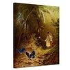 """Castleton Home Leinwandbild """"Der Schmetterlingsfänger"""" von Carl Spitzweg, Kunstdruck"""
