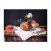 """Castleton Home Leinwandbild """"Alte Meister Stilleben mit Brioche"""" von Édouard Manet, Kunstdruck"""