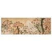 "Castleton Home Leinwandbild ""Alte Meister Blick auf den Fujijama mit blühenden Kirschbäumen"" von Katsushika Hokusai, Kunstdruck"