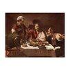 """Castleton Home Leinwandbild """"Das Abendmahl in Emmaus"""" von Caravaggio, Kunstdruck"""