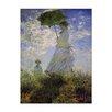 """Castleton Home Leinwandbild """"Alte Meister Frau mit Sonnenschirm"""" von Claude Monet, Kunstdruck"""