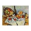 """Castleton Home Leinwandbild """"Alte Meister Stillleben mit Flasche und Apfelkorb"""" von Paul Cézanne, Kunstdruck"""