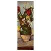 """Castleton Home Leinwandbild """"Alte Meister Stillleben mit Tulpen und Äpfel"""" von Cézanne, Kunstdruck"""
