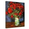 """Castleton Home Leinwandbild """"Alte Meister Vase mit roten Mohnblumen"""" von Vincent van Gogh, Kunstdruck"""