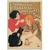 Castleton Home 'Compagnie Des Chocolats' by Steinlen Vintage Advertisement