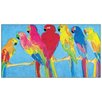Castleton Home 'Parrots In Blue' by Ting Art Print