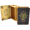 Castleton Home Friendship Wooden Book Box