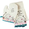 Castleton Home 2-Piece Oven Glove and Cloth Set