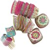 Castleton Home 24 Piece Matrioska and Owl Cupcake Set