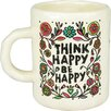 Castleton Home Think Happy Art and Soul Mug (Set of 2)