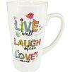Castleton Home Live Laugh Love Latte Mug (Set of 2)