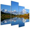 "Castleton Home 4-tlg. Leinwandbilder-Set ""Berglandschaft USA"", Fotodruck"