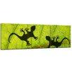 "Castleton Home 3-tlg. Leinwandbilder-Set ""Dschungelblatt mit Geckos"", Fotodruck"