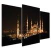 """Castleton Home 3-tlg. Leinwandbilder-Set """"Moschee bei Nacht"""", Fotodruck"""