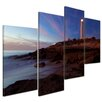 "Castleton Home 4-tlg. Leinwandbilder-Set ""Leuchtturm von Trafalgar, Cadiz"", Fotodruck"