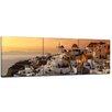 """Castleton Home 3-tlg. Leinwandbilder-Set """"Santorini im Abendrot"""", Fotodruck"""