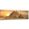 "Castleton Home 3-tlg. Leinwandbilder-Set ""Pyramiden Fantasie"", Fotodruck"