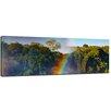 """Castleton Home Leinwandbild """"Regenbogen über Victoria Wasserfall"""", Fotodruck"""