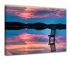 "Castleton Home Leinwandbild ""Sonnenuntergang über dem See"", Fotodruck"