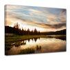 "Castleton Home Leinwandbild ""Sonnenuntergang am See"", Fotodruck"