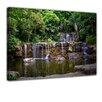 """Castleton Home Leinwandbild """"Wasserfall in Thailand"""", Fotodruck"""