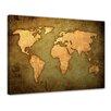"Castleton Home Leinwandbild ""Weltkarte"", Kunstdruck"