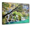 "Castleton Home Leinwandbild ""Wasserfall im Herbst"", Fotodruck"