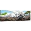 """Castleton Home Leinwandbild """"White Tiger"""", Fotodruck"""