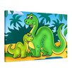 "Castleton Home Leinwandbild ""Dino Kinderbild Mutter und Kind"", Grafikdruck"