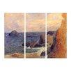 """Castleton Home 3-tlg. Leinwandbilder-Set """"Alte Meister Felsige Meerküste"""" von Paul Gauguin, Kunstdruck"""